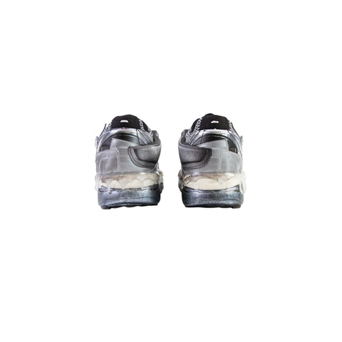 MAISON MARGIELA Fusion Low Top Sneaker (White/Black/Silver)