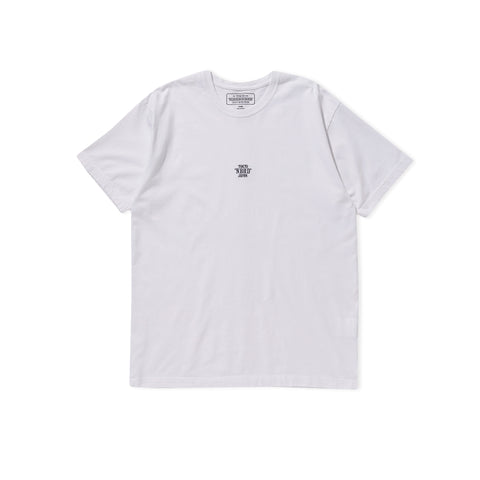 NEIGHBORHOOD Small Logo Embroidered Tee (White)