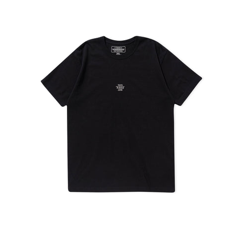 NEIGHBORHOOD Small Logo Embroidered Tee (Black)