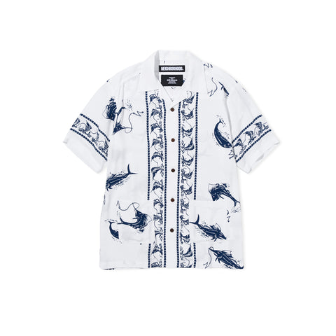 NEIGHBORHOOD Aloha Swordfish Shirt (White)