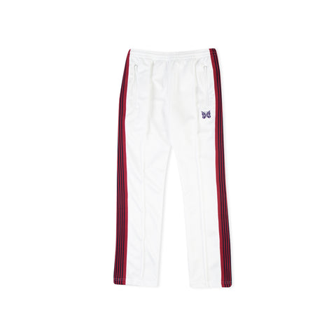 NEEDLES Narrow Polyester Track Pant (White)