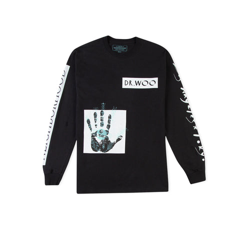 NEIGHBORHOOD x DR WOO Long-Sleeve Tee (Black)