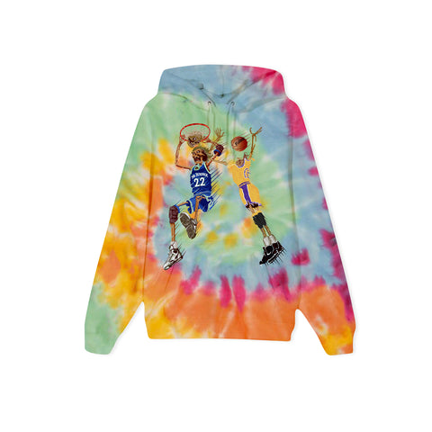 NO JUMPER X BLACK MARKET Death Slam Hoodie (Tie Dye)