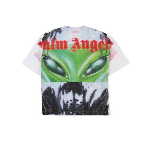 PALM ANGELS Allover Alien Tee (White)