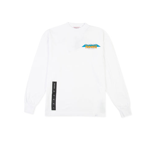 PALM ANGELS Hiking Long-Sleeve Tee (White)