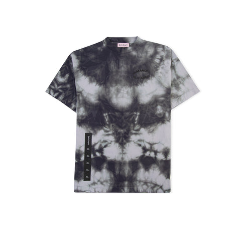 PALM ANGELS Circle Logo Tie Dye Tee (Black)
