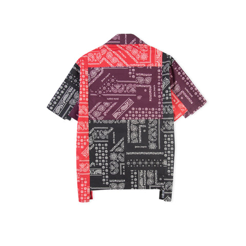 PALM ANGELS Bandana Patchwork Bowling Shirt (Multi)