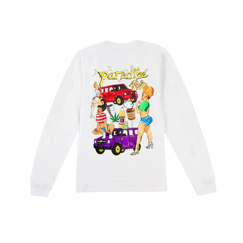 PARADISE NYC 4 Eva Long-Sleeve Tee (White)