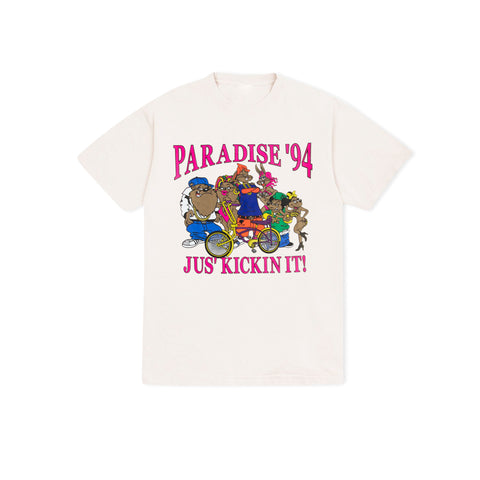 PARADISE NYC Jus' Kickin' It Tee (Natural)