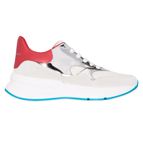 ALEXANDER MCQUEEN Oversized Runner Sneaker (Grey/Red/White)