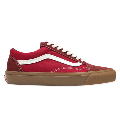 VANS VAULT OG Old Skool LX Suede/Canvas (Madder Brown/Jester Red)