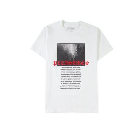 PLEASURES Black Metal Tee (White)