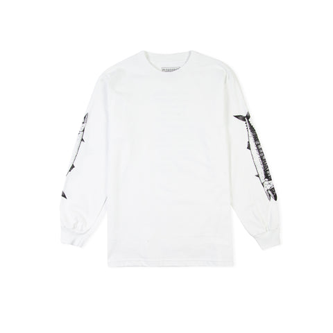 PLEASURES Catch Long-Sleeve Tee (White)