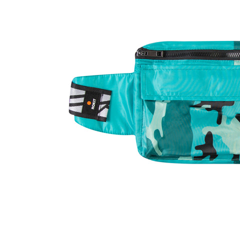 ROKIT Two Tone Hip Bag (Teal/Black)
