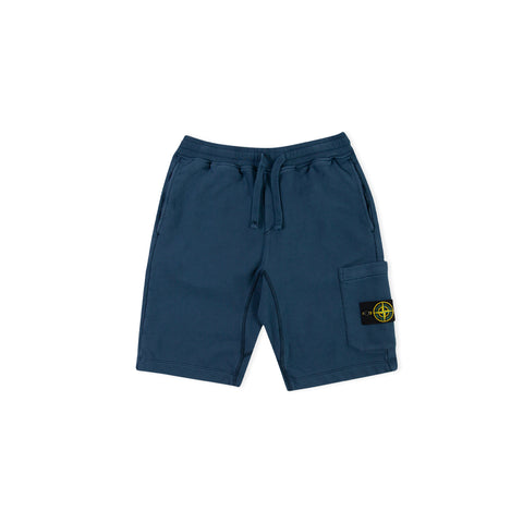 STONE ISLAND 64651 Fleece Bermuda Shorts (Marine Blue)