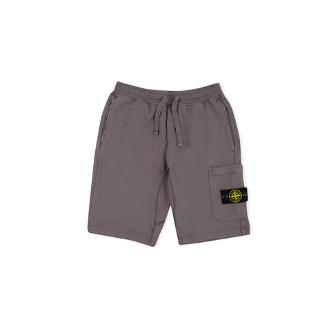 STONE ISLAND 64651 Fleece Bermuda Shorts (Blue Grey)