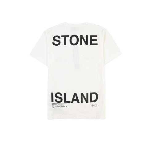 STONE ISLAND 2NS85 Large Back Script Logo Tee (Natural)