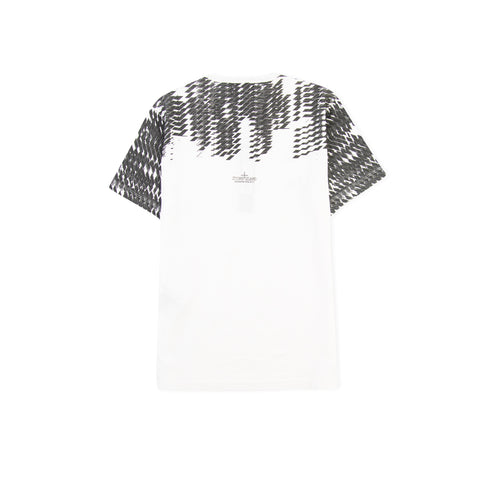STONE ISLAND SHADOW PROJECT 20110 Printed Catch Pocket Tee (Natural)