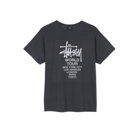 STUSSY Tour Pigment Dyed Tee (Black)