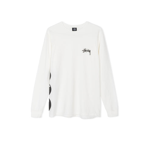 STUSSY 8 Ball Stacked Pigment Dyed Long-Sleeve Tee (Natural)