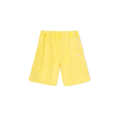 STUSSY Stock Fleece Short (Yellow)