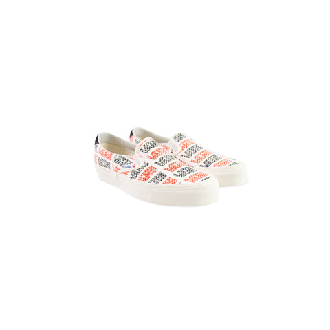 VANS VAULT OG Slip-On 59 LX Canvas (Racing Red/Logo Checkerboard)