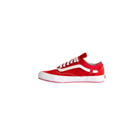 VANS VAULT Old Skool Cap LX Regrind (Racing Red/True White)