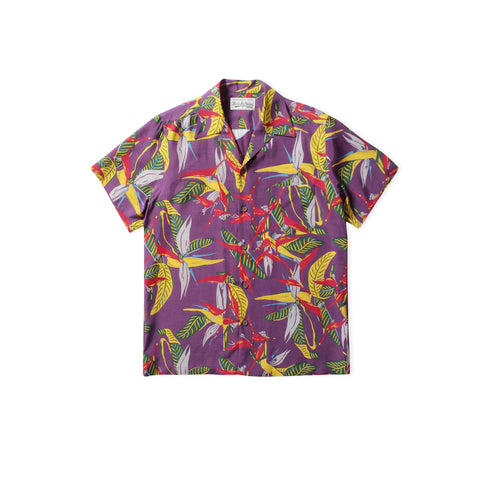 WACKO MARIA Floral Type-7 Hawaiian Shirt (Purple)