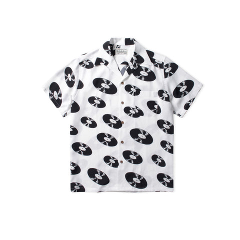 WACKO MARIA Records Type-5 Hawaiian Shirt (White)