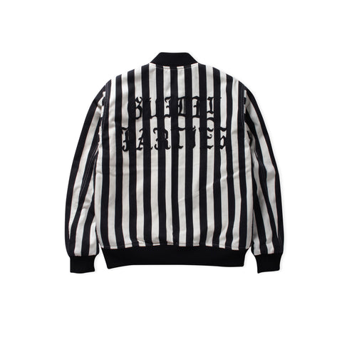 WACKO MARIA Striped Varsity Type-2 Jacket (Black/White)