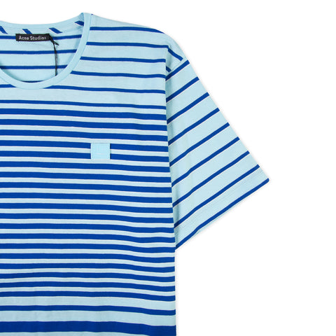 ACNE STUDIOS Face Elvin Stripe Tee (Denin Blue)