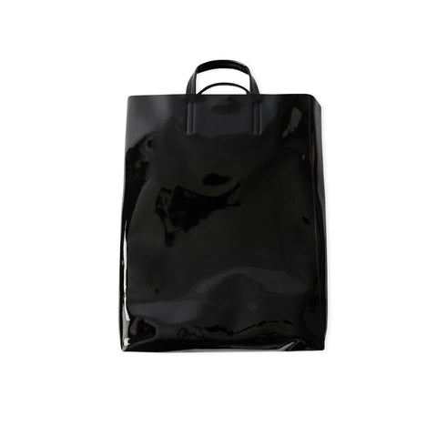 ACNE STUDIOS Baker Patent Leather Tote Bag (Black)