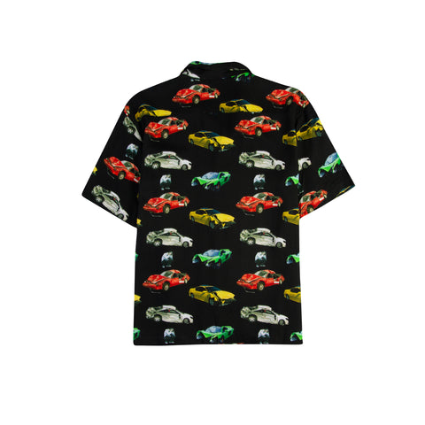 BRONZE 56K Wrecked Cars Button-Up (Black)