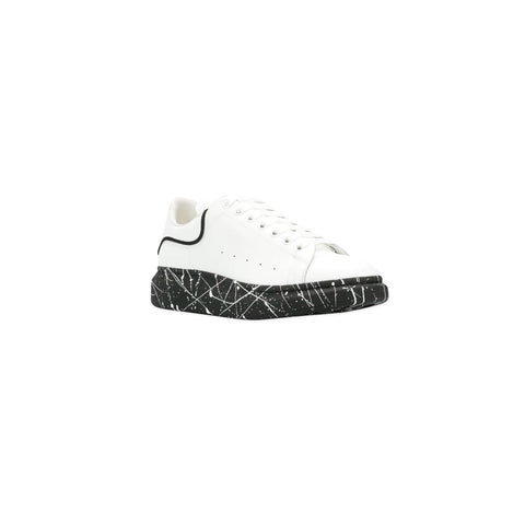 ALEXANDER MCQUEEN Painted Sole Chunky Low Top Sneaker (White/Black)