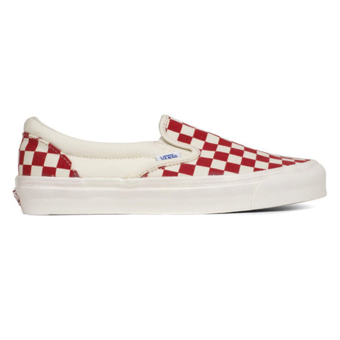 VANS VAULT OG Classic Slip-On LX Canvas (Red/White Checkerboard)