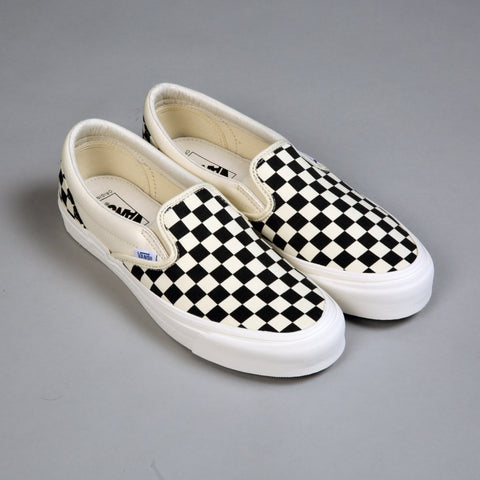 VANS VAULT OG Classic Slip-On LX Canvas (Black/White Checkerboard)