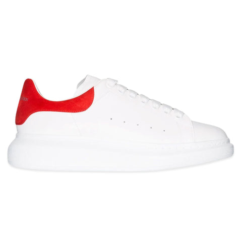 ALEXANDER MCQUEEN Chunky Low Top Sneaker (White/Lust Red)