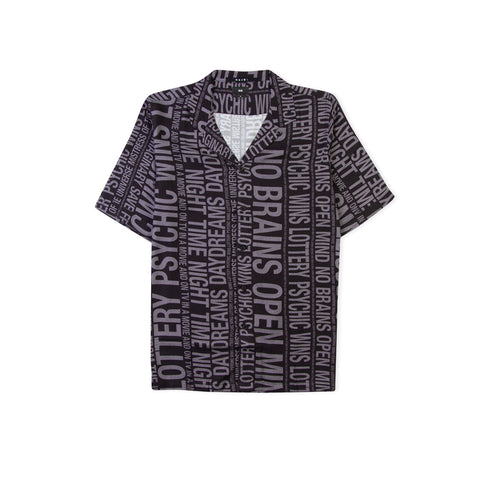 KSUBI No Brain Resort Shirt (Black)