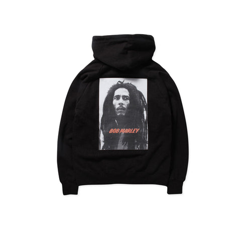 WACKO MARIA x BOB MARLEY Washed Heavy Weight Type-2 Hoodie (Black)