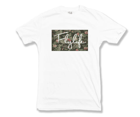 Tropical Signature Tee White