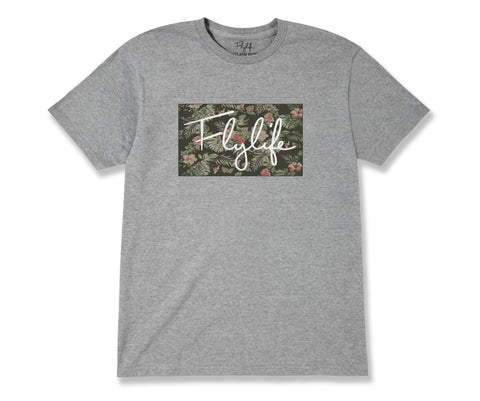 Tropical Signature Tee Heather Grey