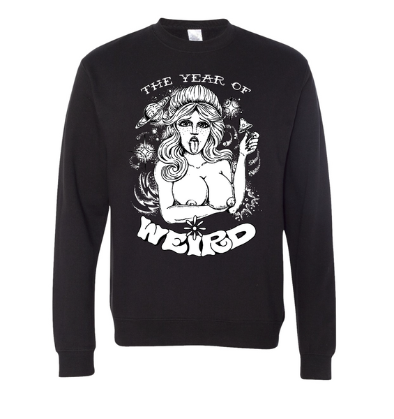 "NEW ""Year of the Weird"" Mens Crewneck Sweater"