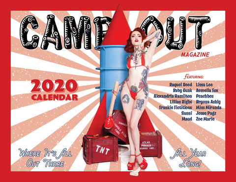 ONLY 15 left! 2020 Calendar With Signed Centerfold