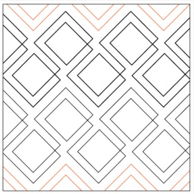Edge-to-Edge Quilting Service - Diagonal Plaid