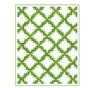 Moda Bella Solids Cotton Fat Quarter Bundle: Green with free quilt pattern