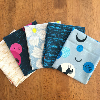 Crescent and Brushed Mixed Fat Quarter Bundle by Sarah Watts - Ruby Star Society #1