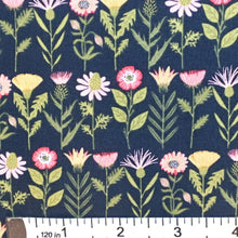 Load image into Gallery viewer, Daisy Mae: Fresh Cuts in Navy by Poppie Cotton PRICE PER 1/4 YARD FABRIC