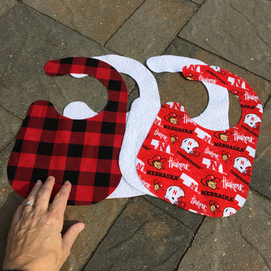 Baby Gift - Precut Husker Baby Bib for Sewing