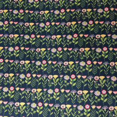 Daisy Mae: Fresh Cuts in Navy by Poppie Cotton PRICE PER 1/4 YARD FABRIC