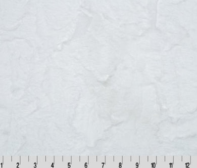 Luxe Cuddle Hide - Snow - Minky Fabric SOLD BY THE 1/2 YARD